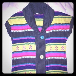 Carters striped sweater vest